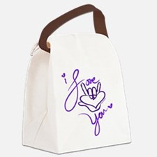 i_love_you_american_sign_language Canvas Lunch Bag