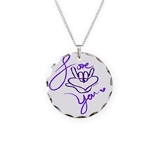 i_love_you_american_sign_lan Necklace Circle Charm