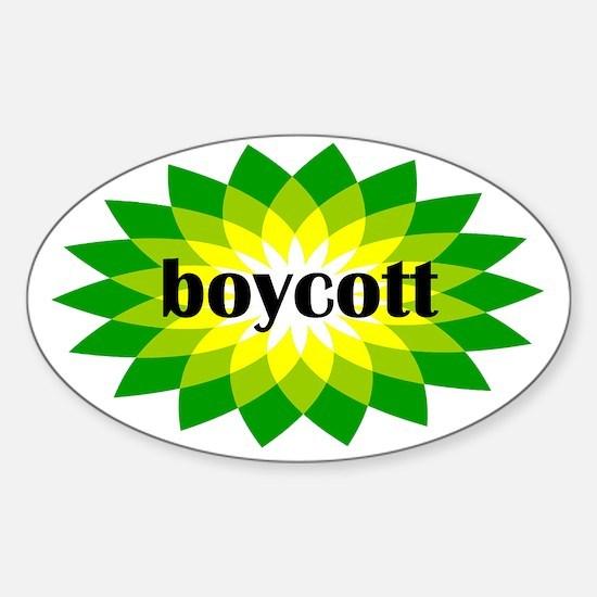 2-bp boycott 4 light Sticker (Oval)