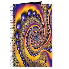 """""""Blue Gold 3"""" Fractal Art Journal"""