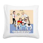 Team Building Square Canvas Pillow