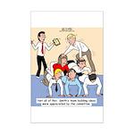Team Building Mini Poster Print