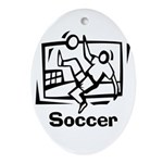 Soccer Oval Ornament
