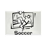 Soccer Rectangle Magnet (10 pack)