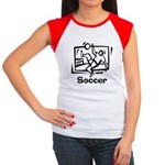 Soccer Women's Cap Sleeve T-Shirt