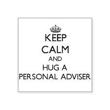 Keep Calm and Hug a Personal Adviser Sticker