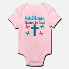 BLESSED BY GOD Infant Bodysuit