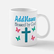 BLESSED BY GOD Mug