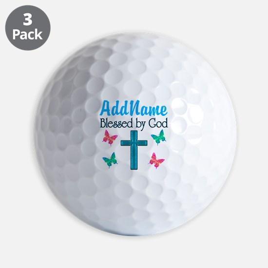 BLESSED BY GOD Golf Ball