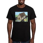 Church Drive-Thru Men's Fitted T-Shirt (dark)