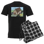 Church Drive-Thru Men's Dark Pajamas