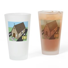 Church Drive-Thru Drinking Glass