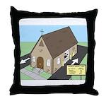 Church Drive-Thru Throw Pillow