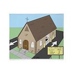 Church Drive-Thru Throw Blanket