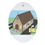 Church Drive-Thru Ornament (Oval)