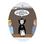 Dracula on Search Committee Ornament (Oval)