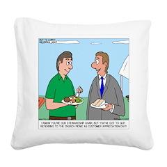 Customer Appreciation Banquet Square Canvas Pillow