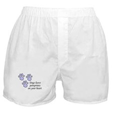 Blue dogs leave pawprints on your heart Boxer Shor