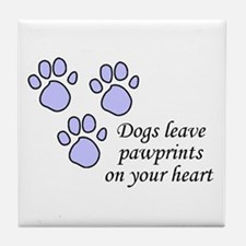 Blue dogs leave pawprints on your heart Tile Coast