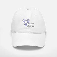 Blue dogs leave pawprints on your heart Baseball Baseball Cap