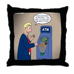 Church ATM Throw Pillow