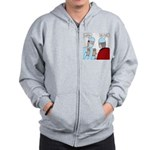 Choir Robe Scrubs Zip Hoodie