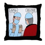 Choir Robe Scrubs Throw Pillow