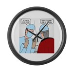 Choir Robe Scrubs Large Wall Clock
