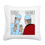 Choir Robe Scrubs Square Canvas Pillow
