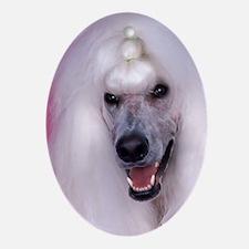 Poodle slider Oval Ornament