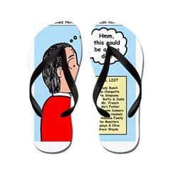 Pastor Call List Flip Flops