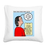Pastor Call List Square Canvas Pillow