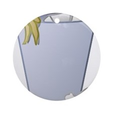 Trash Can Ornament (Round)