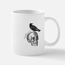 Halloween Raven Skull Mug
