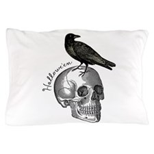 Halloween Raven Skull Pillow Case