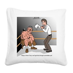 Committee Struggles Square Canvas Pillow