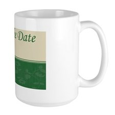 Save the date green Ncard Mug