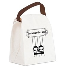 Violas Over All Canvas Lunch Bag