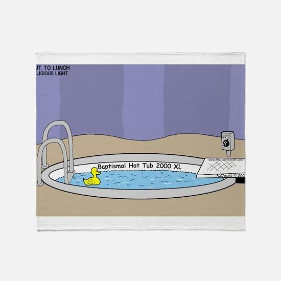Baptismal Hot Tub Throw Blanket