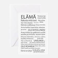 Elama Kortti - Life Greeting Card
