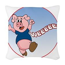 WeeeeePig-C8trans Woven Throw Pillow