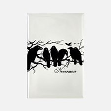 Nevermore Ravens Rectangle Magnet