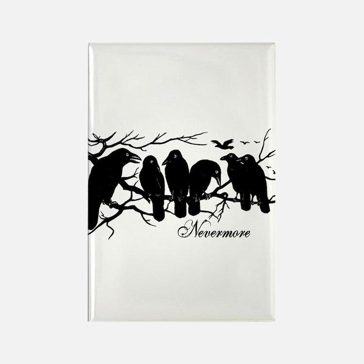 Nevermore Ravens Rectangle Magnet