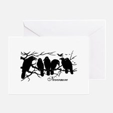 Nevermore Ravens Greeting Card