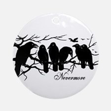 Nevermore Ravens Ornament (Round)