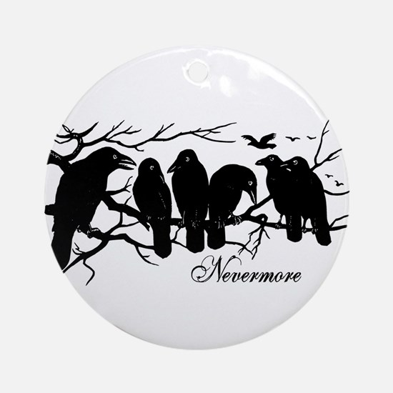 Nevermore Ravens Ornament (Round)