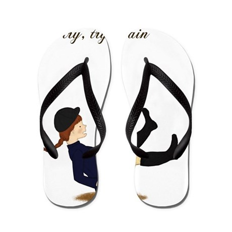 lg If at first you fall girl Flip Flops