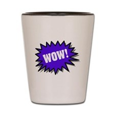 Blue Wow Shot Glass
