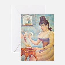 iPadS Seurat Powder Greeting Card