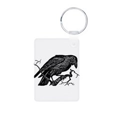 Vintage Raven in Tree Illustration Aluminum Photo